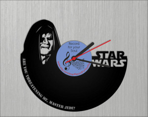 vinyl wall record clocks, Sheev Palpatine clock, Darth Sidious quote ...