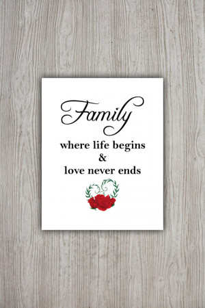 Family Love Quotes, Printable Wall Art Decor, Love Poster, Family ...