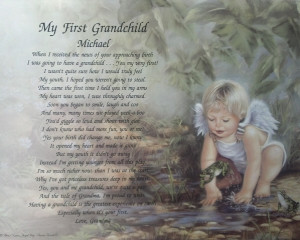 ... POEM PERSONALIZED GIFT IDEA FOR NEW GRANDCHILD ANGEL BACKGROUND