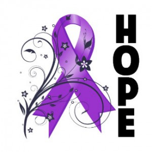 Lymphoma Floral Hope Ribbon Shirts and Gifts by CancerApparelGifts.Com