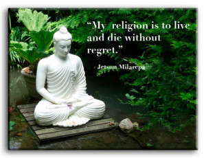 Details about PREMIUM CANVAS ART Regret quote Buddha *MANY SIZES*