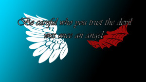 Devil Quotes Wallpaper Angel and devil quote