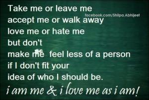 love me, I really do