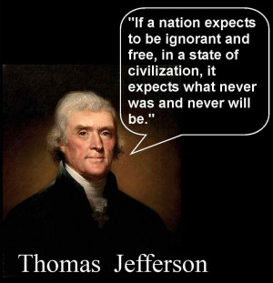 ... -addicted America needs to listen closely to Thomas Jefferson