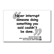 Earhart Interrupt Quote Postcards (Package of 8) for
