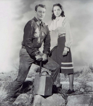 "Laraine Day with John Wayne — promo for ""Tycoon"" (1947)"