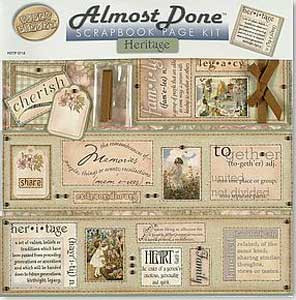 Almost Done Scrapbook Page Kit - Heritage