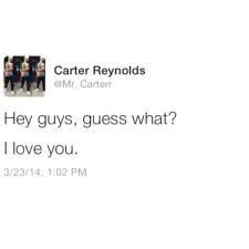 magcon cutest tweet from Carter Reynolds #mademyday More