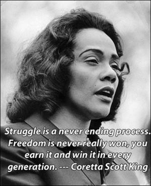 La lutte ne setermine jamais. La liberté n'est jamais acquise, il ...