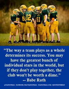 teammates football sports mom quotes about teamwork favorite quotes ...