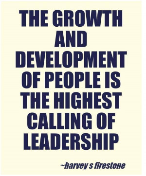 Nurturing the development of people on every level is something I ...