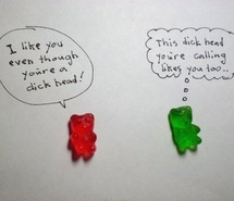 candy, couple, cute, green, gummy bear, happy, love, text, typography ...