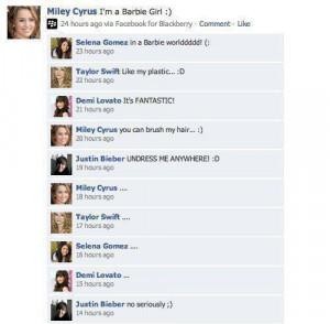 demi lovato, facebook, funny, justin bieber, lol, quotes, selena gomez ...
