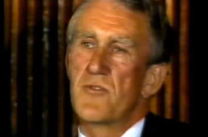 Malcolm Fraser during his concession speech in 1983.