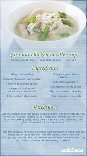 Coconut Chicken Noodle Soup Recipe