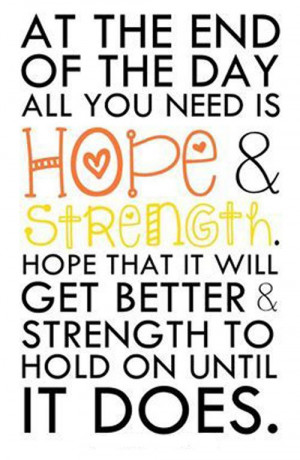 Strength Quotes - Hope & Strength - The Daily Quotes