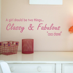 Girls quote wall decal