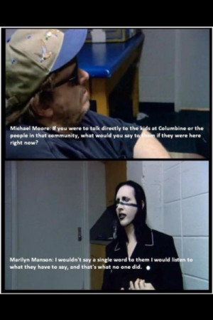 Marilyn manson quote bowling for columbine wallpapers