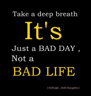 Take a breath and relax. It'll get better.