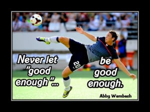 Soccer Poster Abby Wambach Olympic Champion Photo Quote Wall Art Print ...