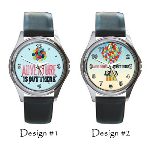 Adventure Is Out There Disney Up Pixar Quotes Round Metal Leather ...