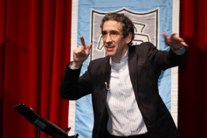 Douglas Rushkoff urges his audience to be savvy citizens of the