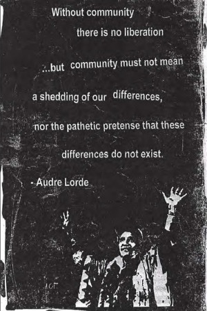 mosshunt:[photocopy image of audre lorde with her hands up, and quote ...