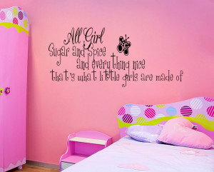 Details about SUGAR AND SPICE LITTLE GIRLS ROOM Vinyl Wall quote Decal ...