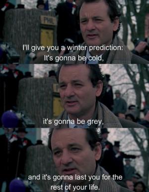 Groundhog day meme bill Murray winter prediction