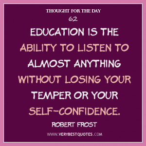 ... to almost anything without losing your temper or your self-confidence