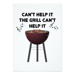 Funny Bbq Sayings Invitations
