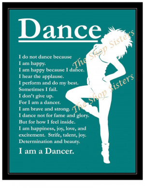 Dancer Print Wall art Silhouette Teal Blue 8 x 10 Jazz Modern Dance ...