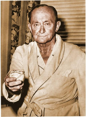 Baseball_Photos: Ty Cobb near the end of the line, in the hospital ...