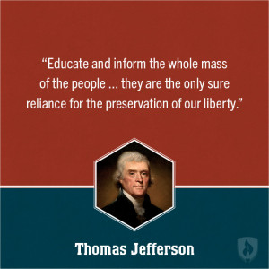 Thomas Jefferson Education Quote