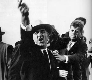 President Jack Kennedy tried to restrain soon to be President Lyndon ...