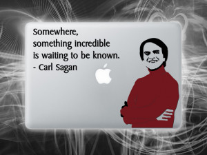 Carl Sagan quote sticker for laptop Cosmos vinyl macbook decal
