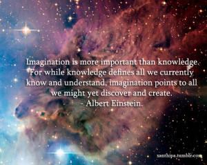 albert einstein, imagination, knowledge, quote