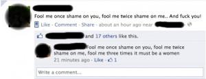 Haha, very funny assholes. ^-^ - feminism Photo