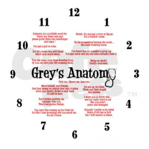 greys_anatomy_quotes_frameless_wall_clock.jpg?color=White&height=460 ...