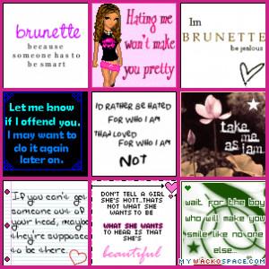 Brunette sayings