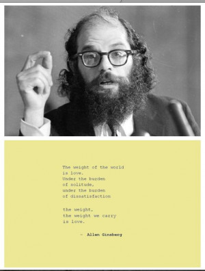 Allen Ginsberg on love, from