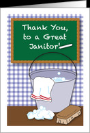 Thank You, to Janitor, chalkboard, bucket card - Product #937259