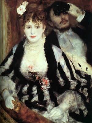 Renoir, La Loge, 1874, oil on canvas, Courtauld Institute Galleries ...