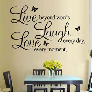 ... Love-Wall-Quote-Stickers-Removable-Vinyl-Decal-Home-Art-Decor-Bedroom