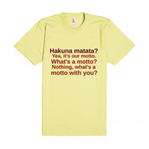 Hakuna Matata Lion King Quote