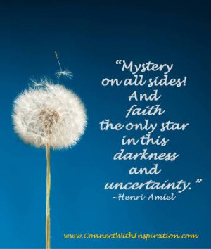 Faith Quote, Trust Quote, Faith The Only Star In This Darkness