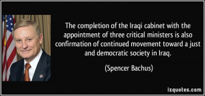More Spencer Bachus Quotes