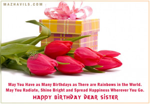 Happy Birthday Wishes for Sister Facebook