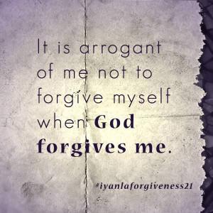 ... God forgives me - Iyanla Vanzant #forgiveness #forgiven #God #forgive
