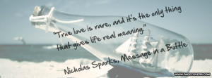 Message In A Bottle Nicholas Sparks Quotes